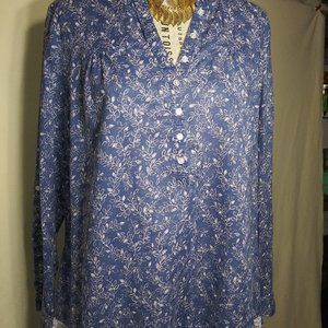 236 Soze X Large Blue and White  Cotton Tunic